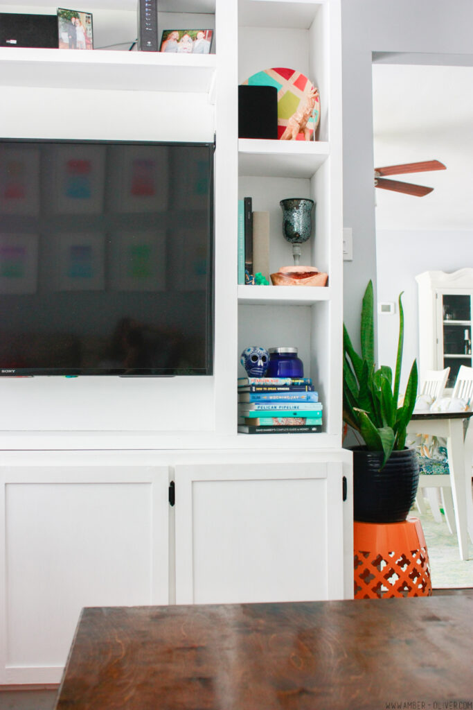 DIY entertainment center by Amber Oliver
