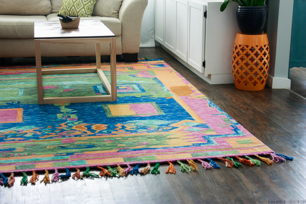 Amber oliver's colorful living room rug