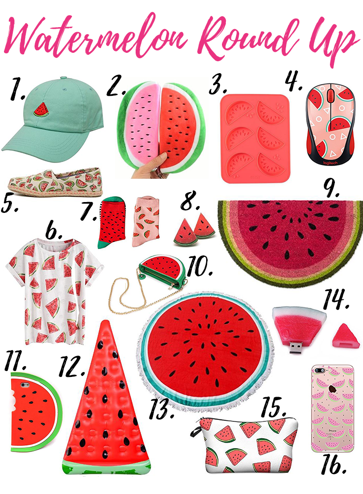 Watermelon Round Up! Super cute watermelon items that would be unique gift ideas or perfect for a watermelon lover!