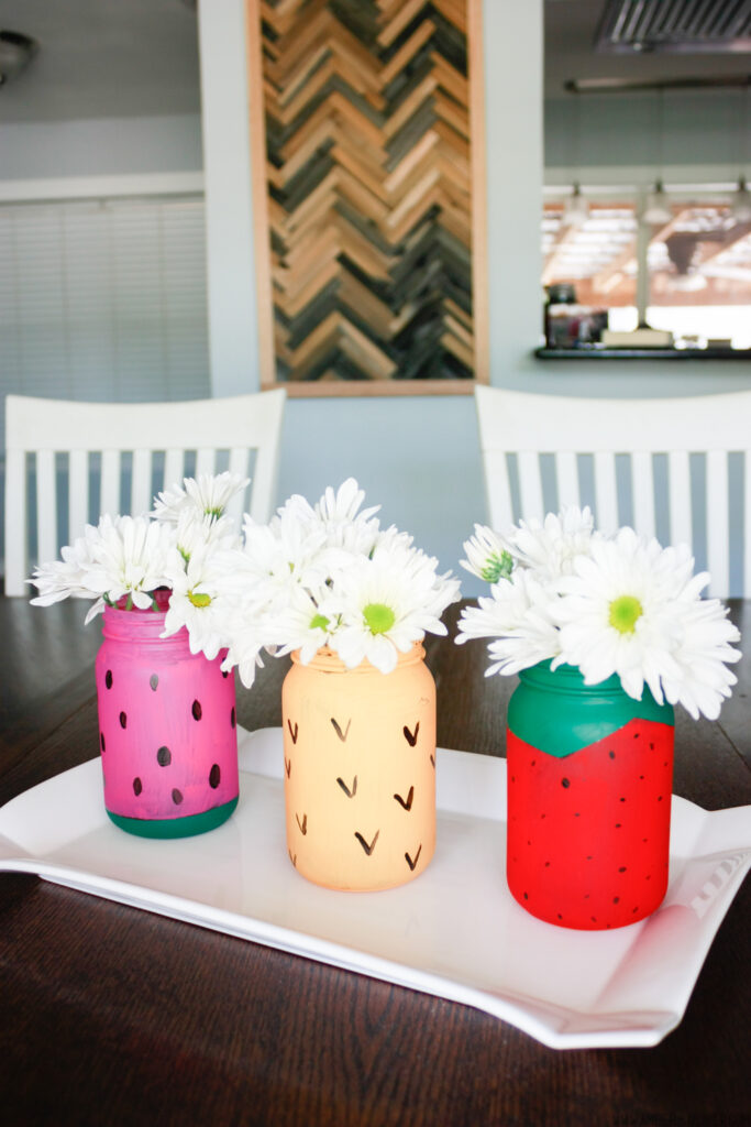 Mason Jar Crafts: Fruit Themed Jars