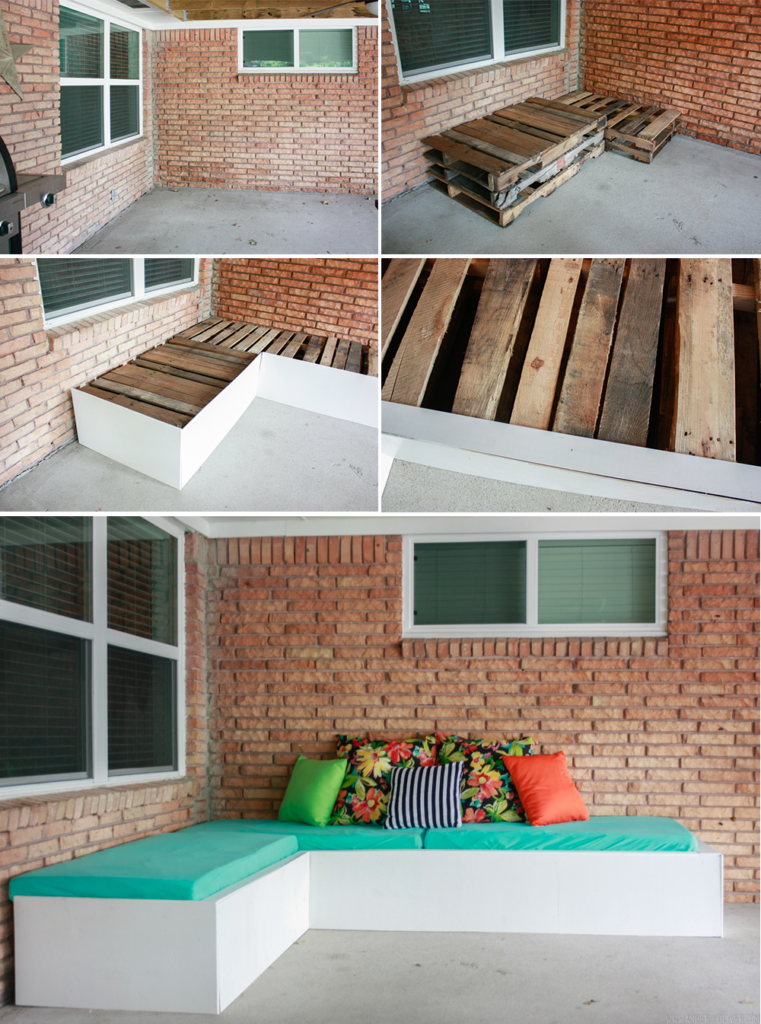 Backyard Update Diy Outdoor Couch An Inexpensive Pallet Project