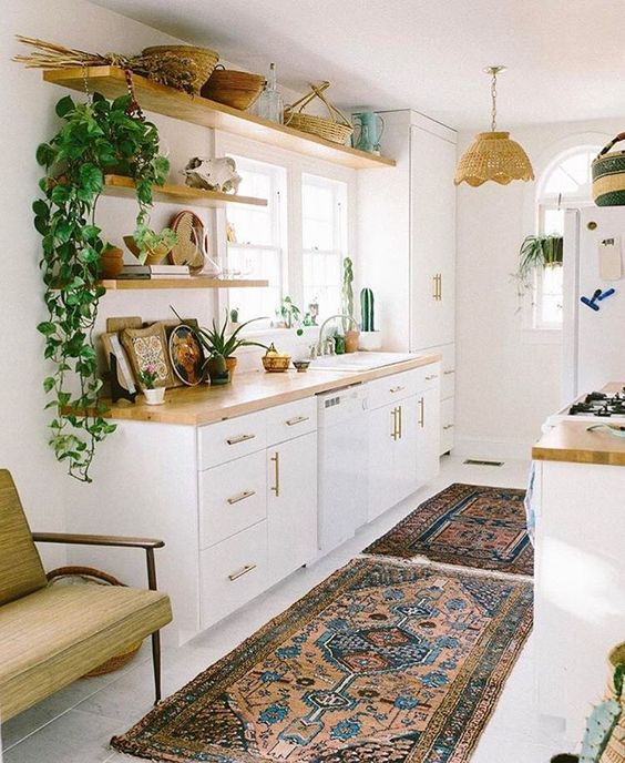 beautiful rugs in the kitchen