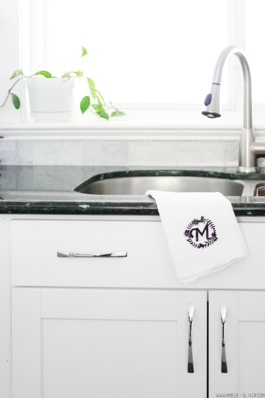 Easy DIY Monogram Tea Towel