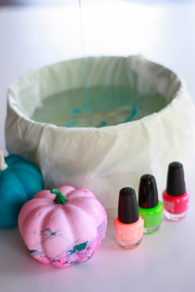 How To Make Nail Polish Pumpkins