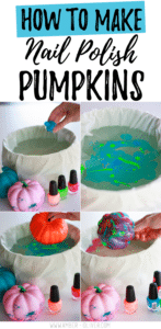 How to make nail polish pumpkins!