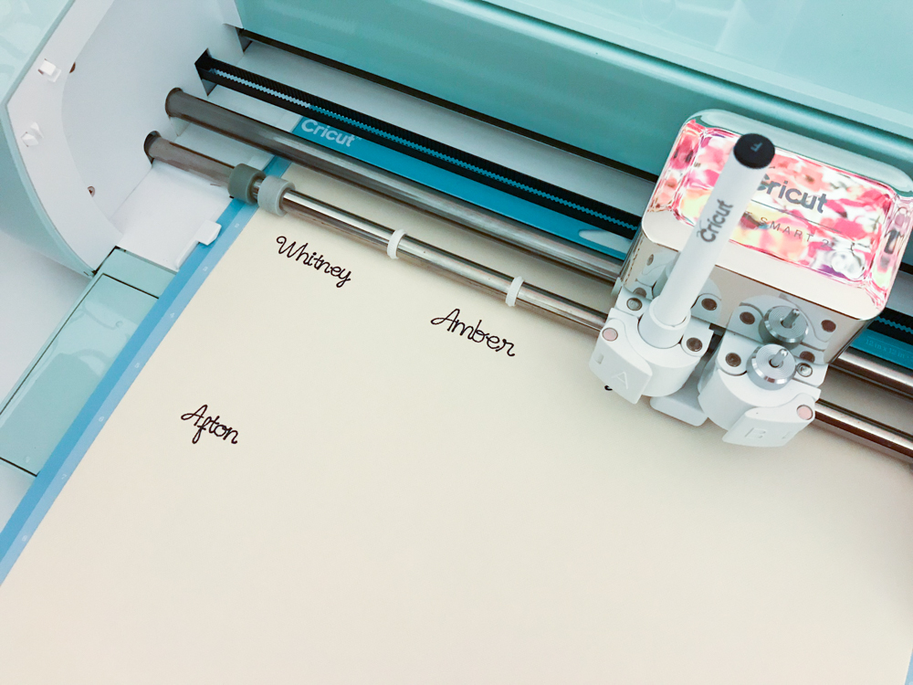 Cricut Explore Air 2 writing with Cricut pens