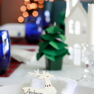 Holiday Dinner Party Decor with Cricut