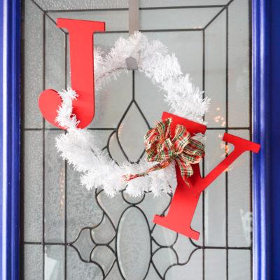 JOY Holiday Wreath