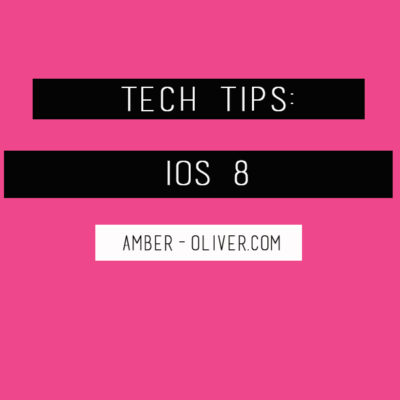 Tech Tips: iOS 8