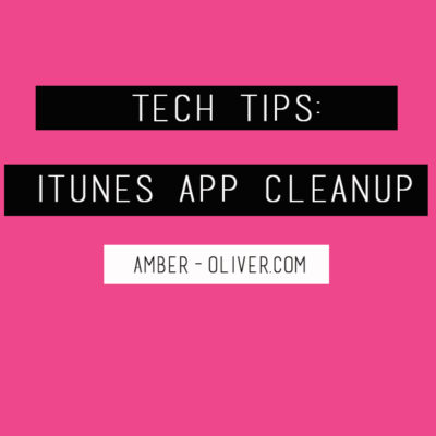 Tech Tips: iTunes App Cleanup