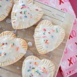 Easy homemade pop tarts! Make your own pop tarts with only TWO ingredients!