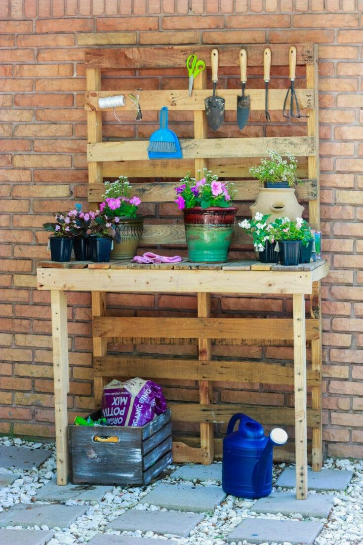 potting bench diy