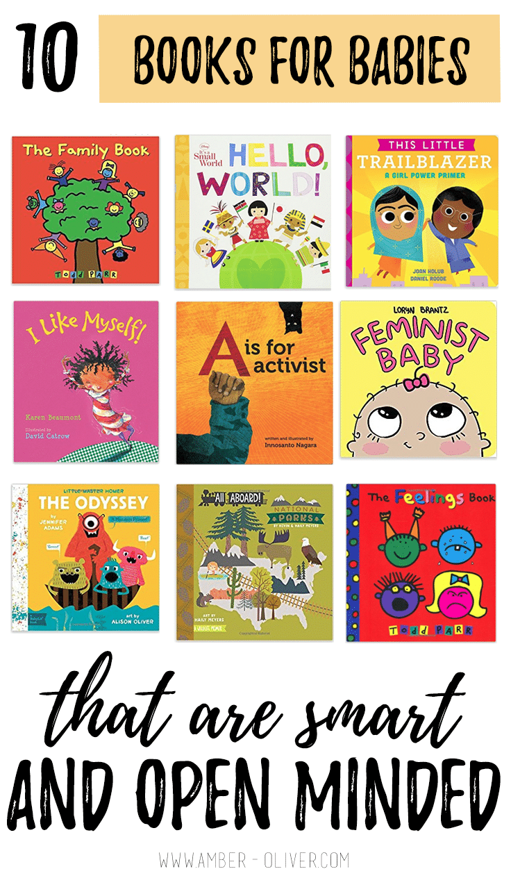 Books for babies that are smart and open minded! Great baby shower gift ideas!
