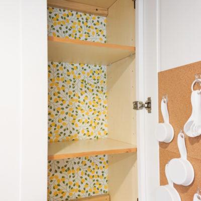 Organizing Baking Supplies – A Super Cute Baking Cabinet!