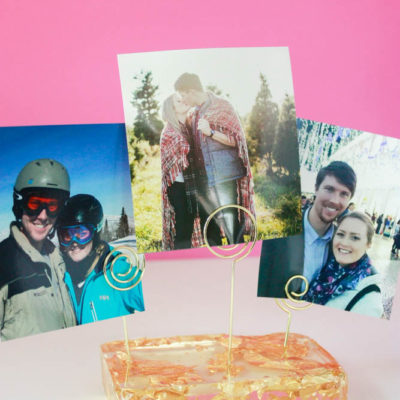DIY Photo Holder – How to Make A Resin Picture Stand!