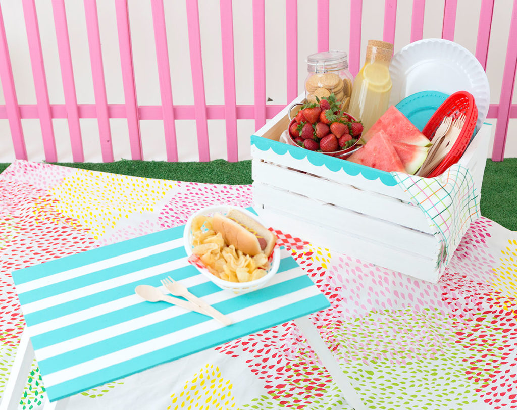 diy wooden picnic crate