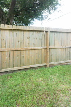How to clean wood fence - the after looks beautiful!