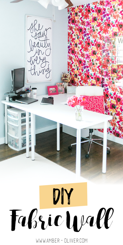 How to put up a fabric wall - an inexpenisve and easy wallpaper alternative!