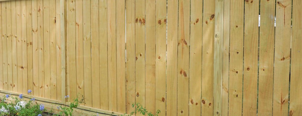 completed DIY wooden fence