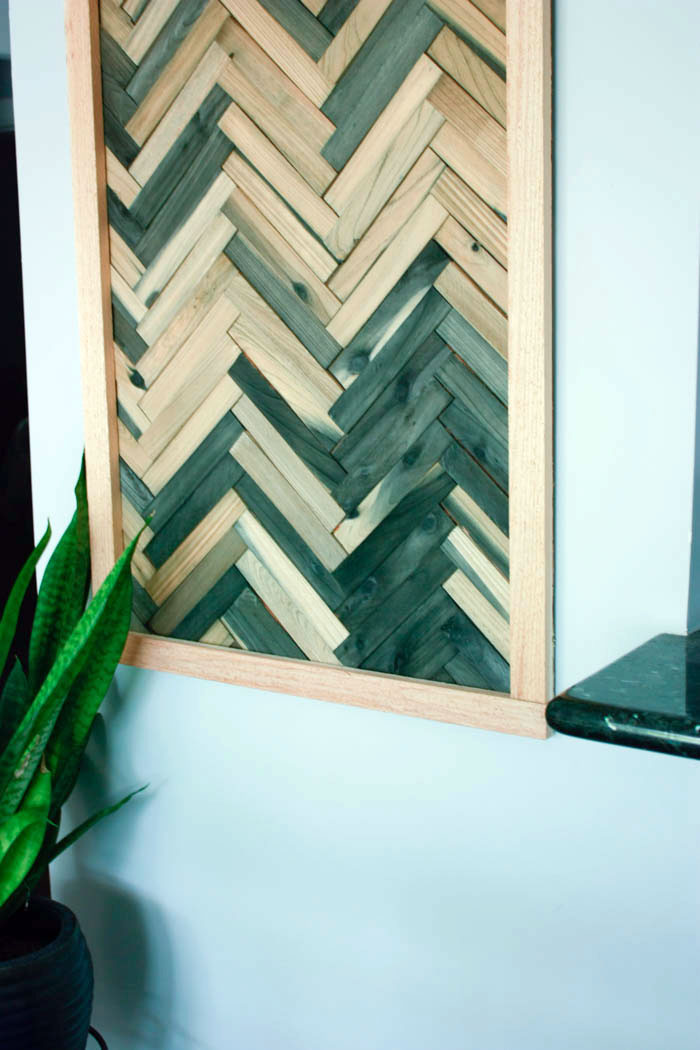 DIY Wall Art - Cheap and Easy Wall Art Using Wood Shims