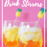DIY drink stirrers made with resin