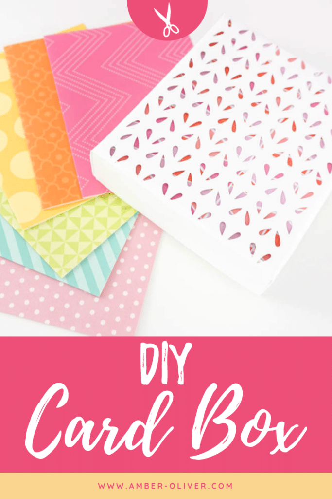 pinnable image of DIY card box