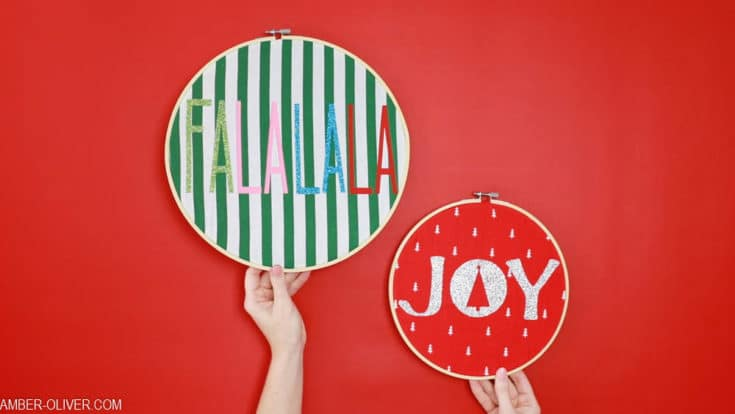 Fabric Holiday Hoops