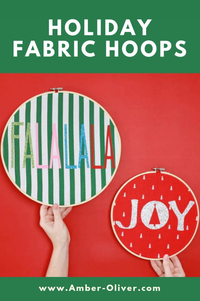 Holiday Fabric Hoops PIN