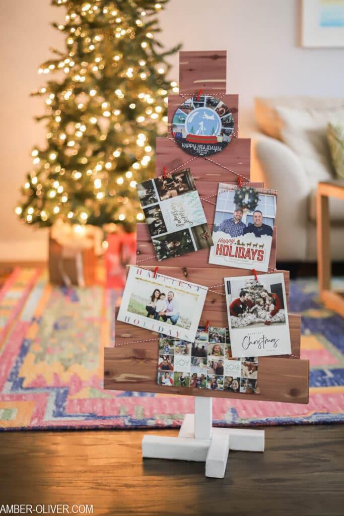 DIY Christmas Card Holder - Made with Cedar Planks! | Amber Oliver