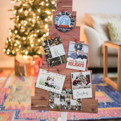 DIY Christmas Card Holder – Made with Cedar Planks!