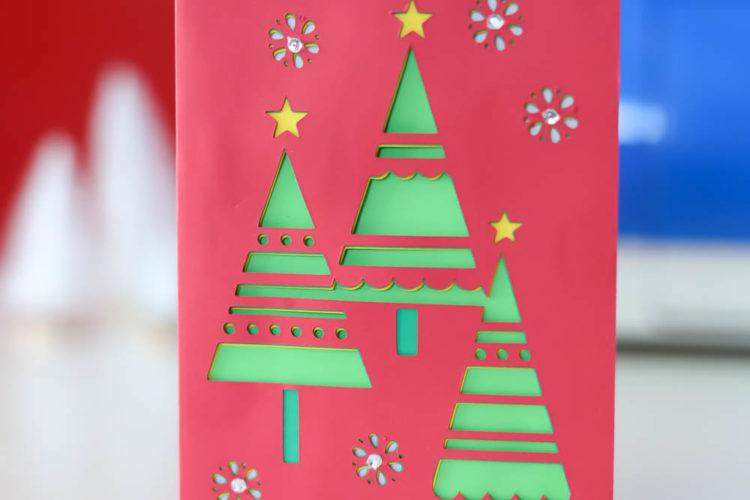 beautiful handmade christmas card