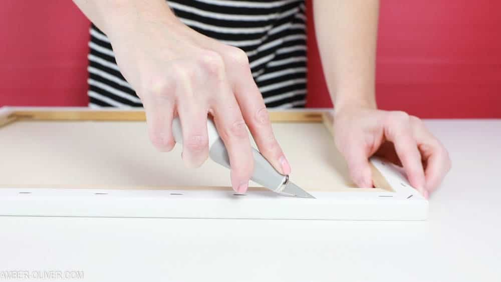 cutting canvas to make reverse canvas signs