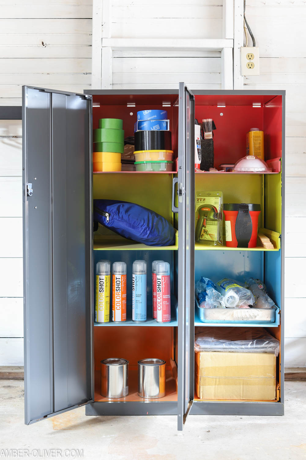 Garage Organization Ideas How To Store Paint Supplies