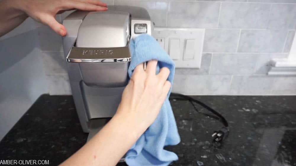 how to clean your keurig: wipe down