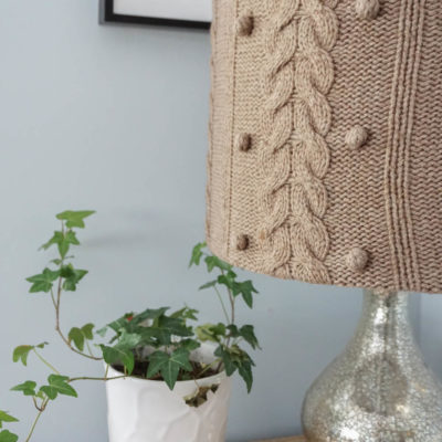 Make A DIY Lampshade Using an Upcycled Sweater