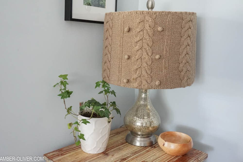 how to make a cute diy lampshade using an upcycled sweater