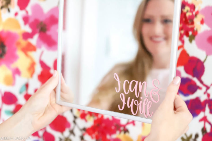DIY Mirror Decals