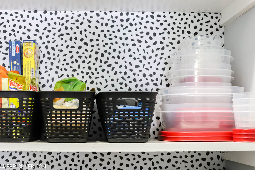 dollar store baskets and rubbermaid easy find lids