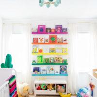 Rainbow Floating Shelves