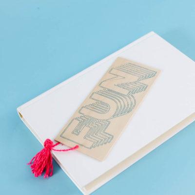 Foil Quill Bookmark