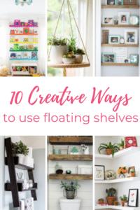 0 create ways to use floating shelves.