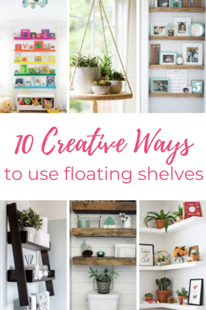 0 create ways to use floating shelves.