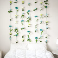 DIY Flower Wall // Headboard // Home Decor