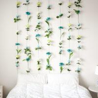 DIY Flower Wall // Headboard // Home Decor