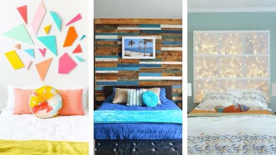 3 different diy headboard ideas