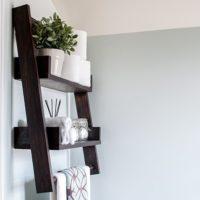 DIY Floating Ladder Shelf - with Plans