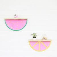 DIY Fruit Slice Shelf