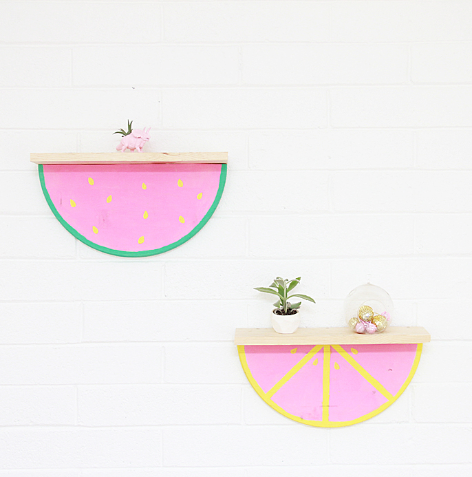 DIY Fruit Slice Shelf