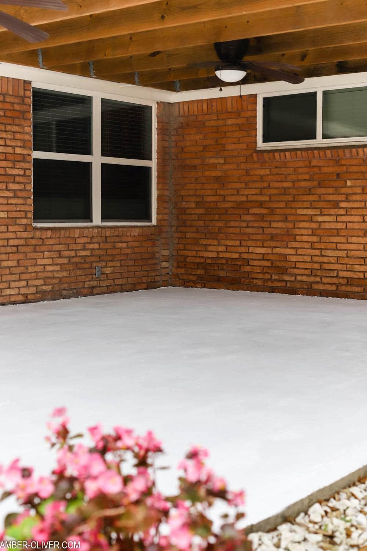 white paint on patio floor