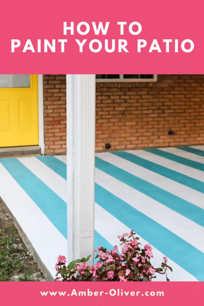 painted patio with yellow door